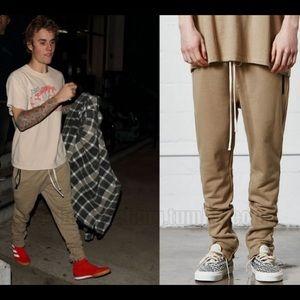 bbe28959 FEAR OF GOD Pants - 🔥 FOG CHINCHILLA DRAWSTRING PANTS seen on JB 😱
